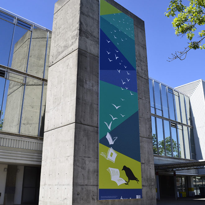 BCIT Exterior Building Graphics