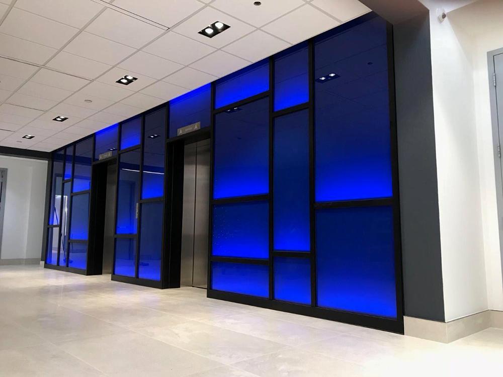 2017 Blue Backlit Wall