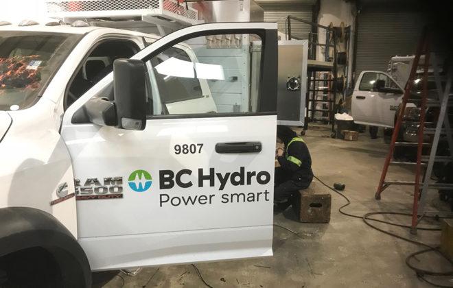 2018 BC Hydro Fleet Graphic