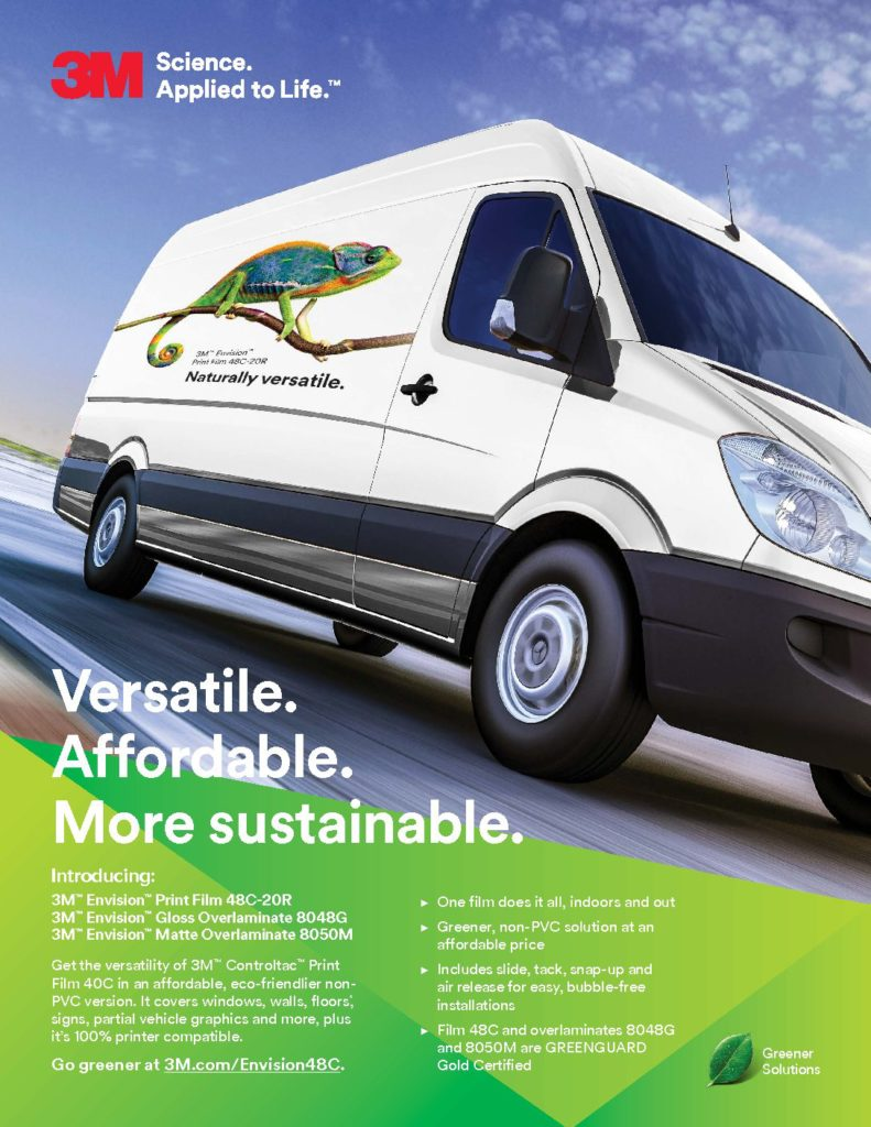 3M Flyer 6 Envision 48C SELL SHEET with GREENGUARD Gold