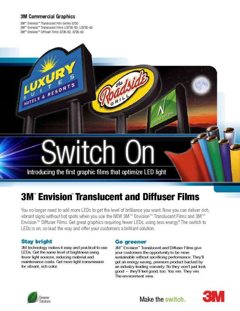 3m SM 8 Envision Translucent Diffuser Films