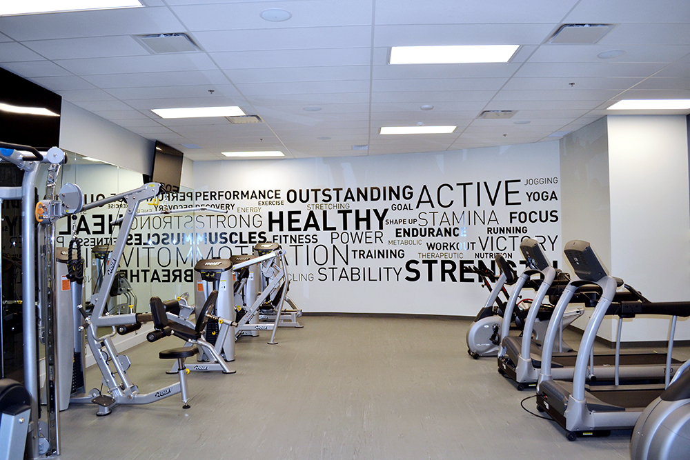745 Thurlow Fitness Centre Wall Graphics 2015