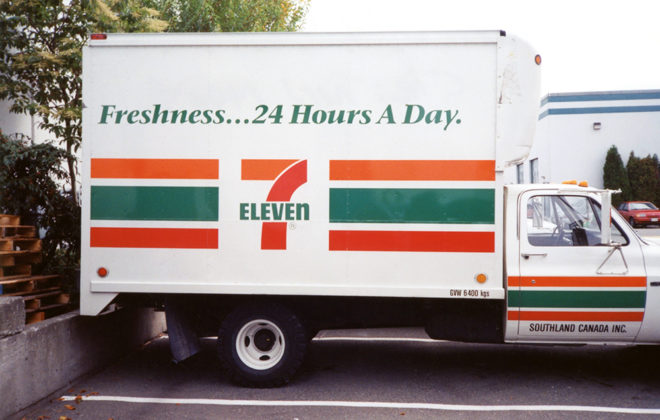 Mid 1990s 711 Fleet Graphics