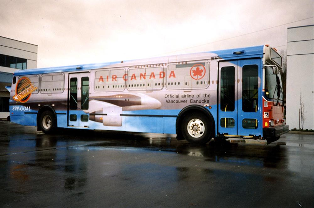 1990s Air Canada Canucks Fleet Wrap