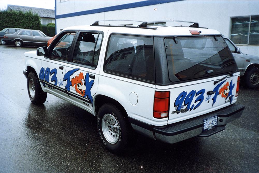 Mid 1990s Fox Radio Fleet Graphics