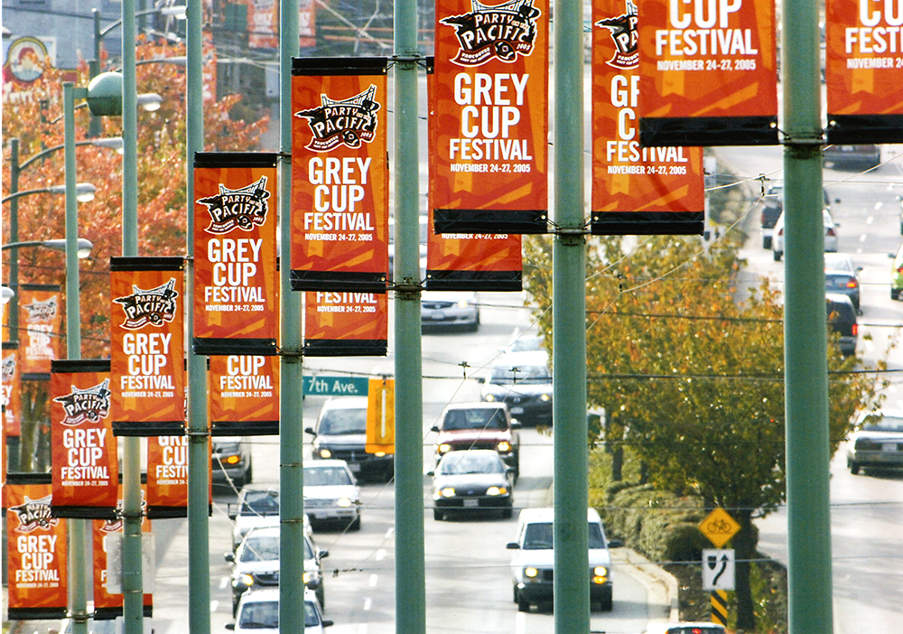 2005 Grey Cup Banners