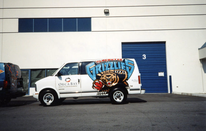 1996 Vancouver Grizzlies Fleet Graphics