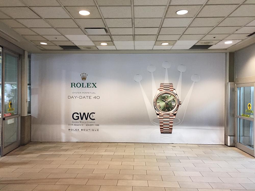 2017 Rolex Wall Graphics