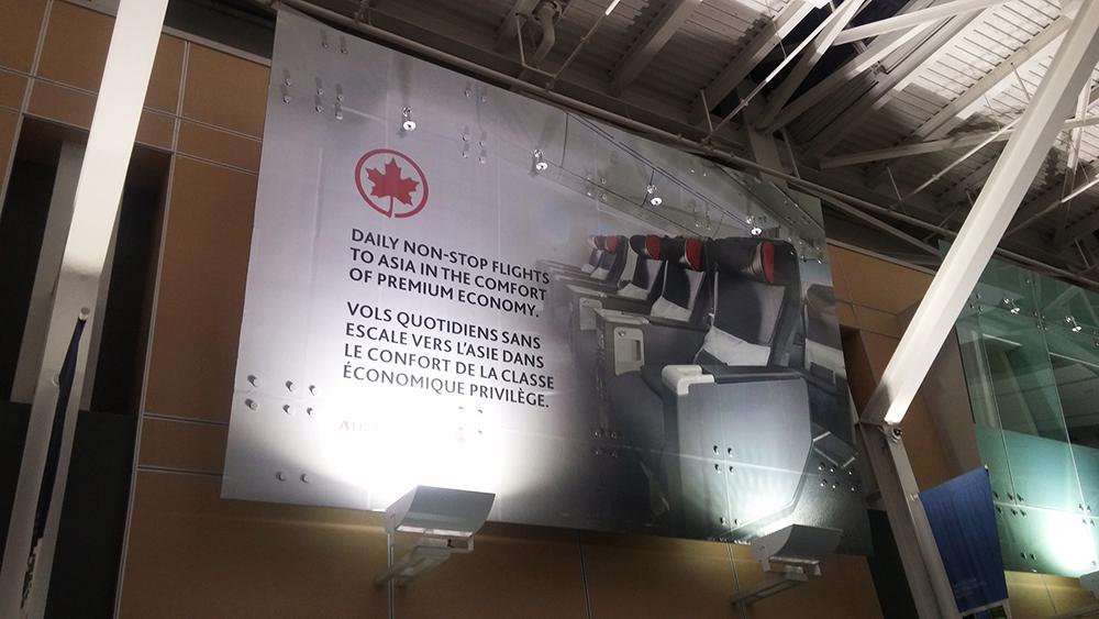 Air Canada Glass Banner 2016