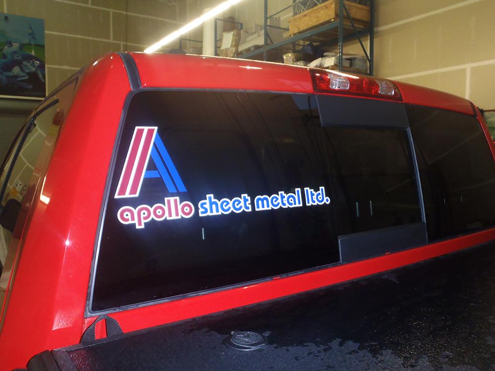 Apollo Sheet Metal Truck Decal 2015
