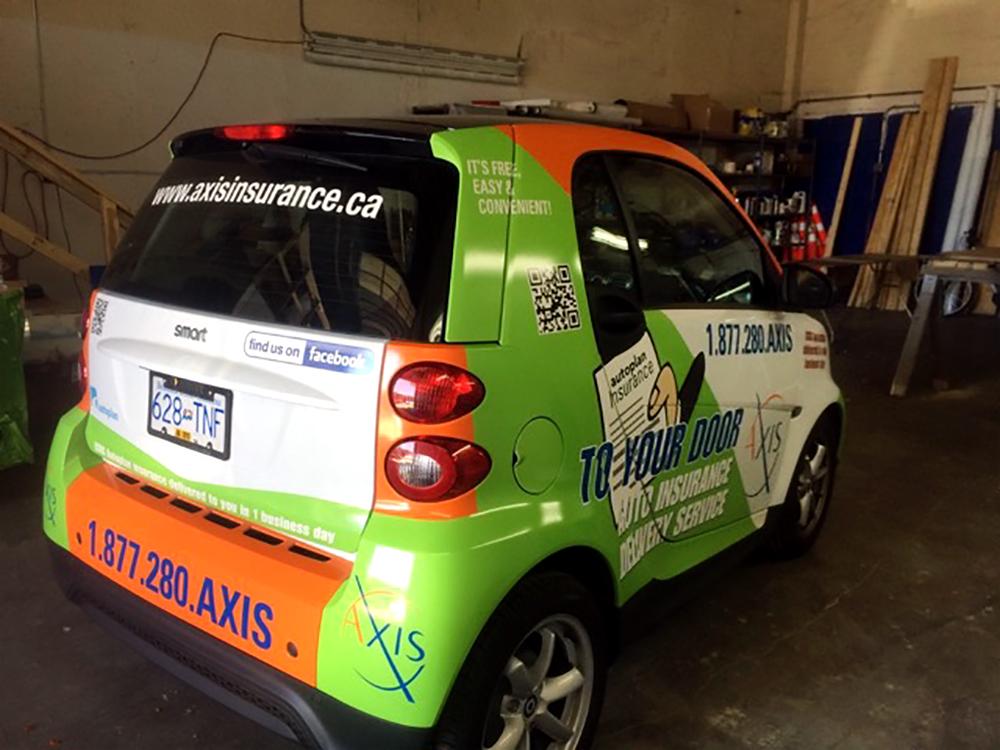 Axis Insurance Car Wrap 2015