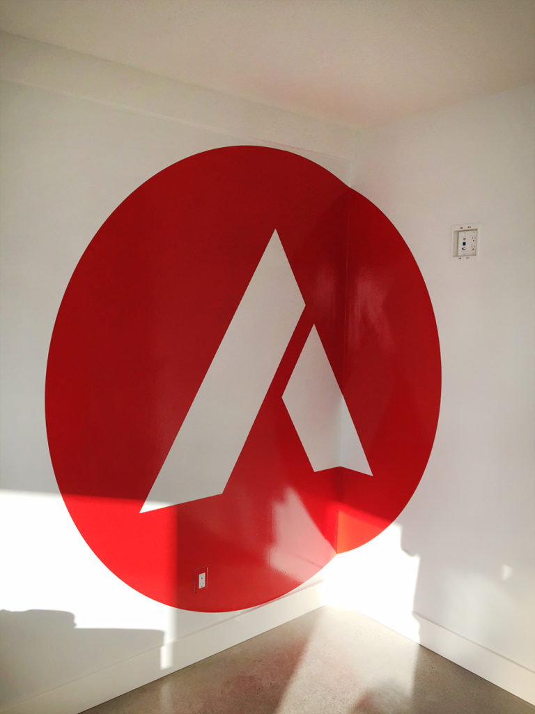 Axis Langley Office Wall Graphic 2015