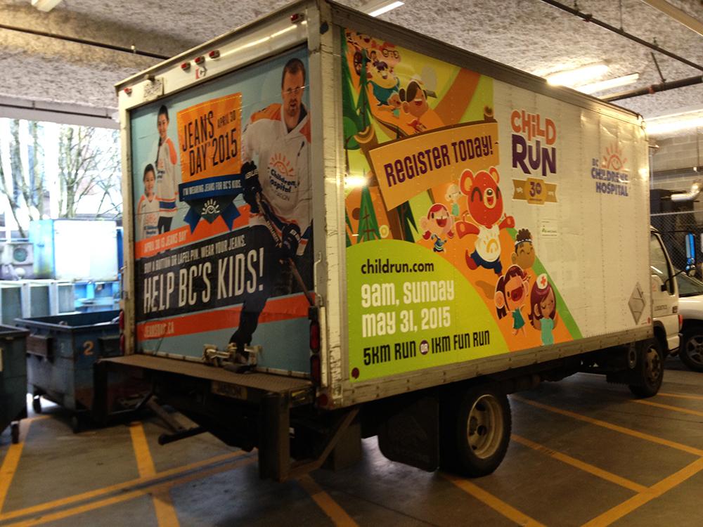 BC Childrens Hospital Truck Decals 2015