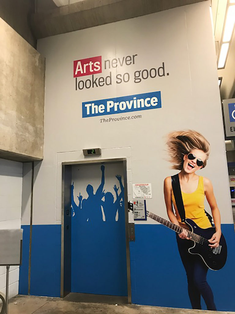 2017 The Province Wall Graphics