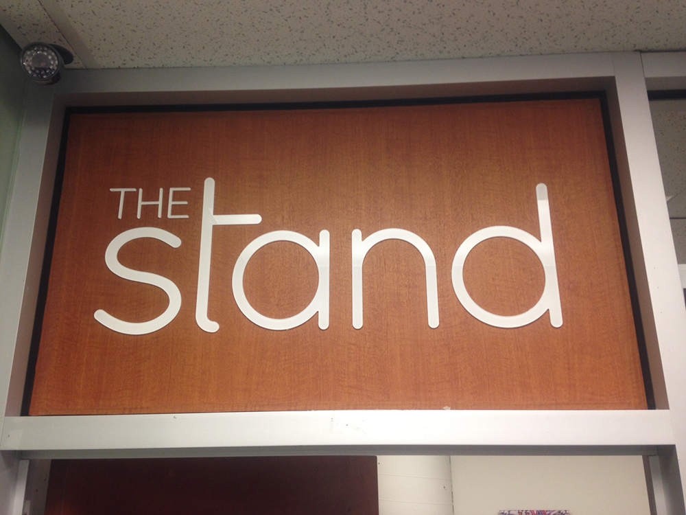 BCIT The Stand Front Sign 2016