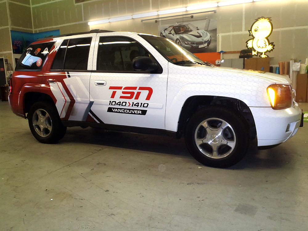 TSN Vancouver Vehicle Wrap 2015
