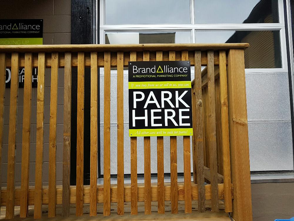 Brand Alliance Parking Sign 2016