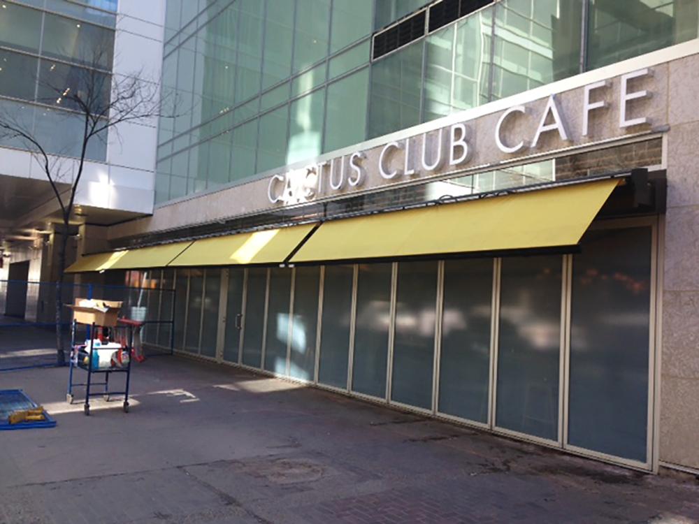 Cactus Club Calgary Front Sign 2016