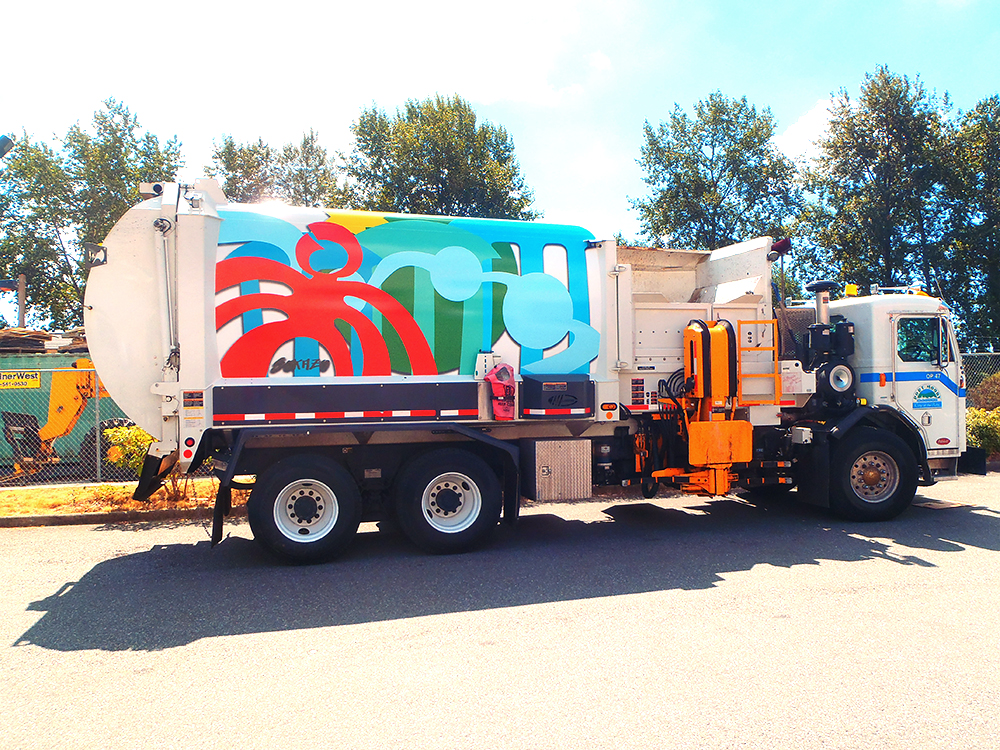 City of Port Moody Public Art Truck Wrap 2015