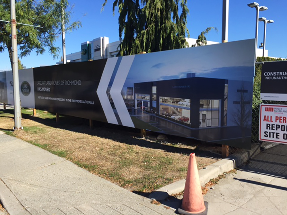 2017 Cowell Auto Group Hoarding