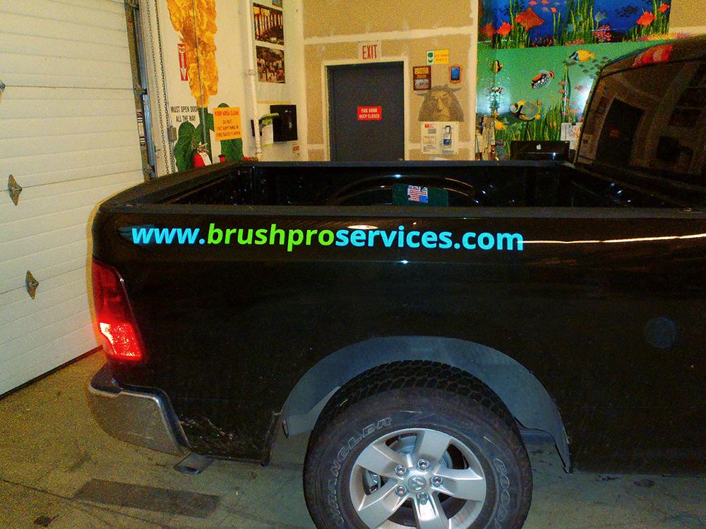 Brush Pro Truck Decal 2015