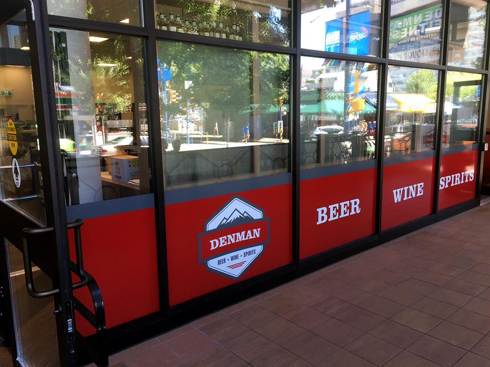 Denman Liquor Store Window Graphic 2015