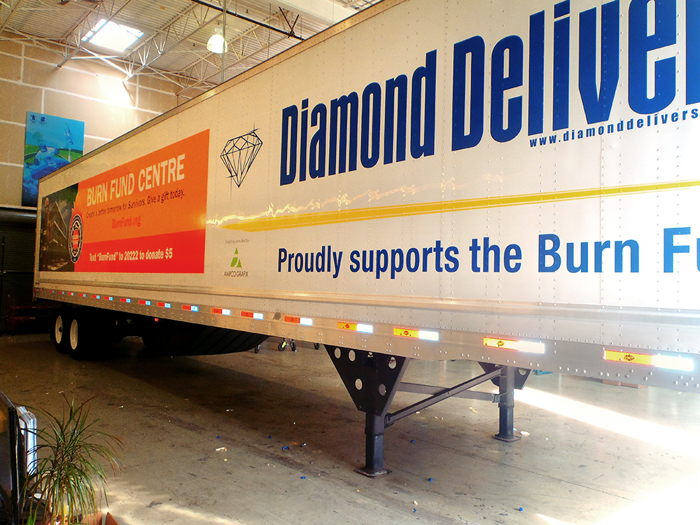 Diamond Delivery Trailer Wrap 2015