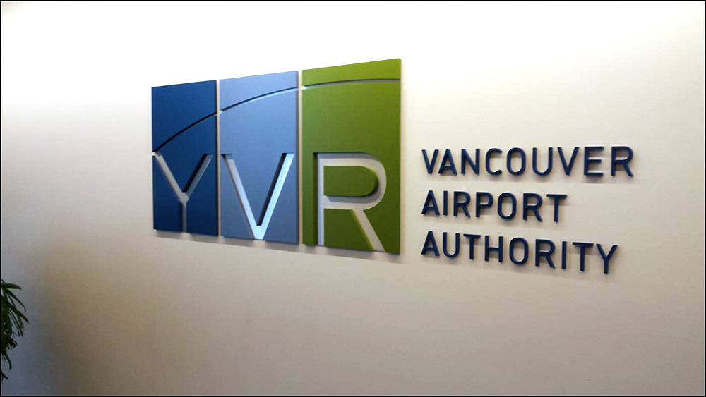 2018 YVR Dimensional Lettering