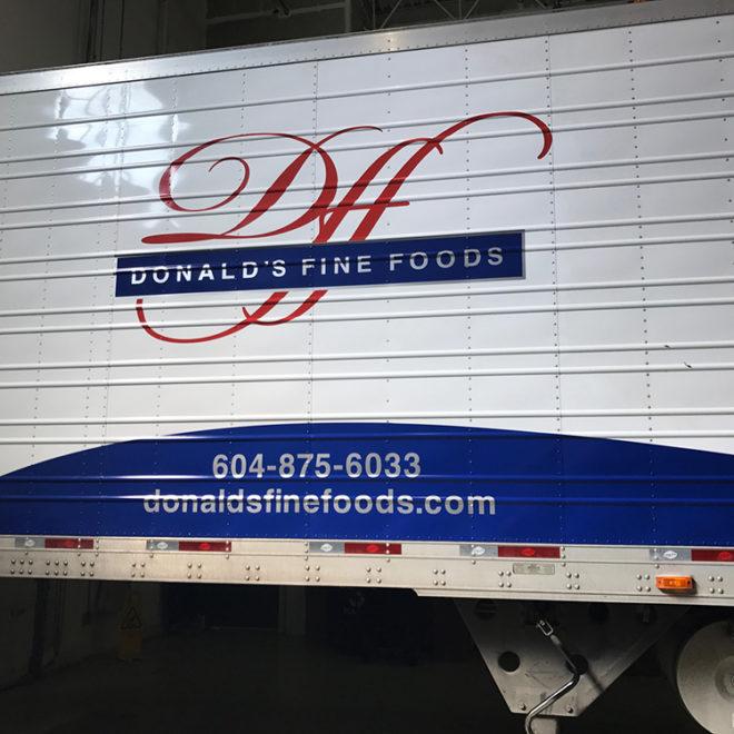 2017 Donald's Fine Foods Fleet Graphics
