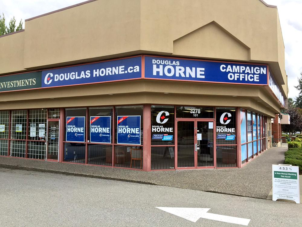 Douglas Horne Storefront Signage 2015