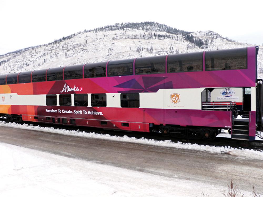 Province of Alberta Train Wrap