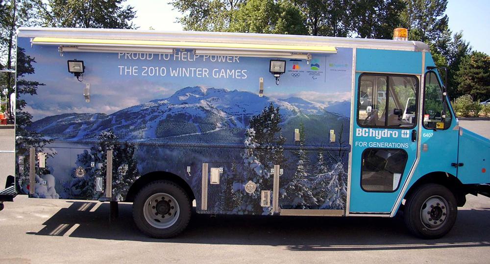 BC Hydro Bus Wrap