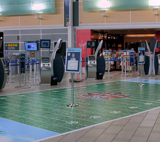 West Jet YVR Floor Graphics