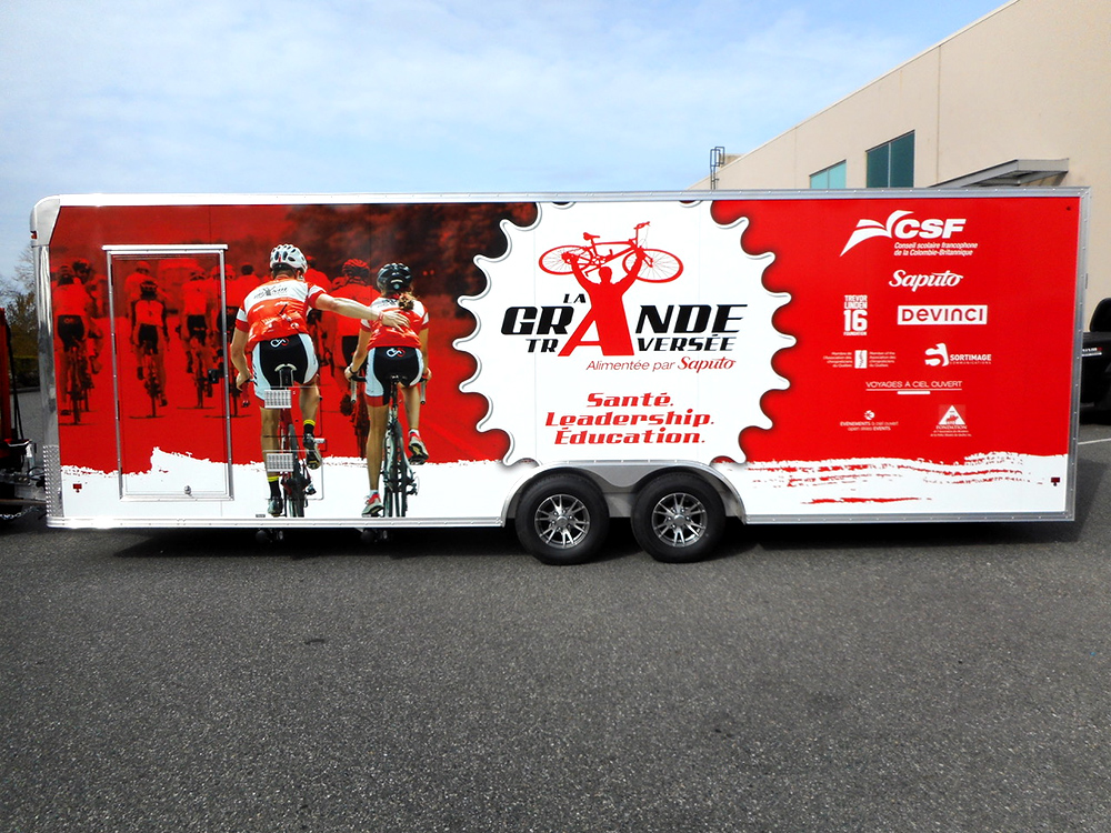 Great Canadian Ride Trailer Wrap