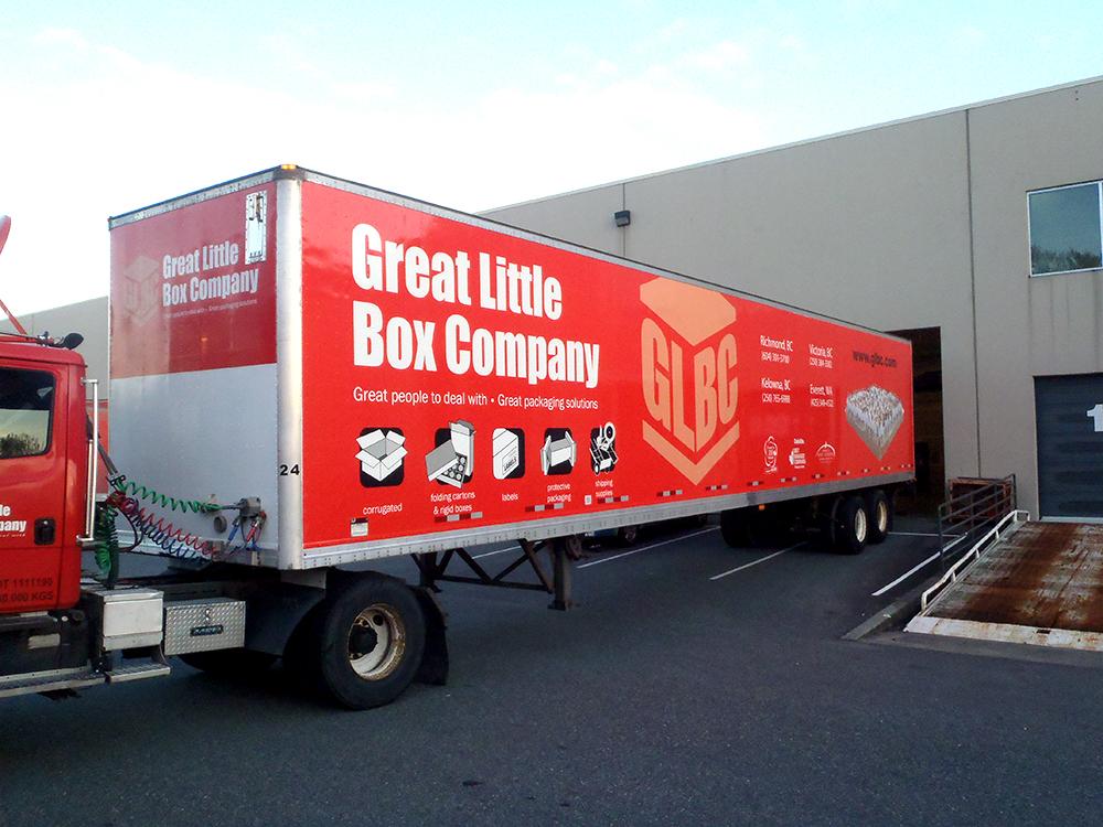 Great Little Box Company Trailer Wrap 2015