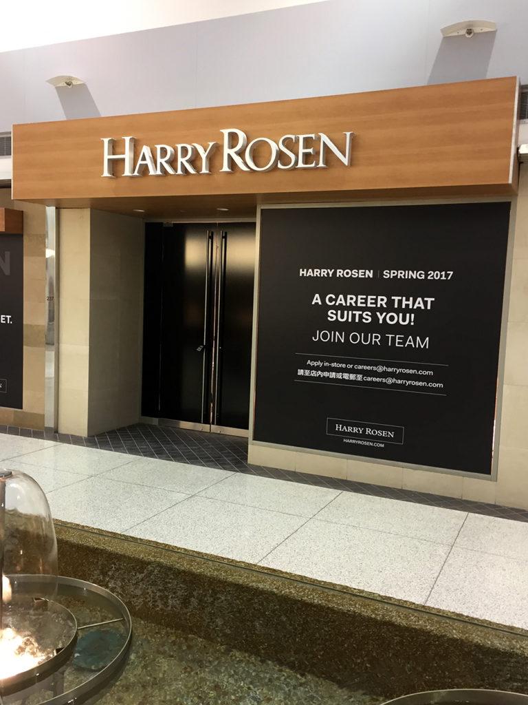 2017 Harry Rosen Architectural Finish