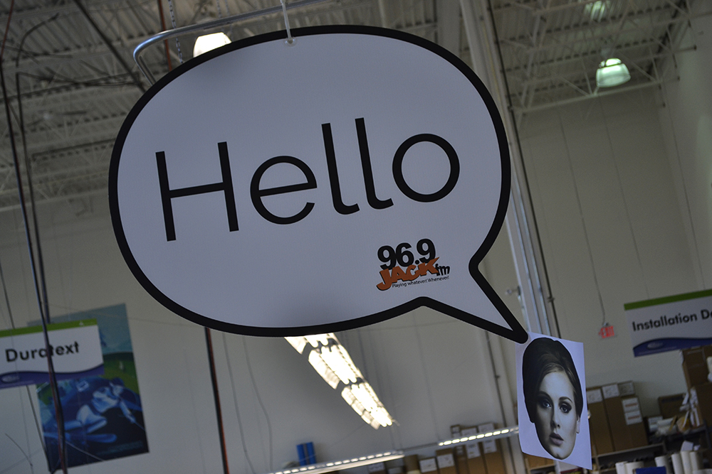 2017 Hello 96.9FM Office Wall Graphics