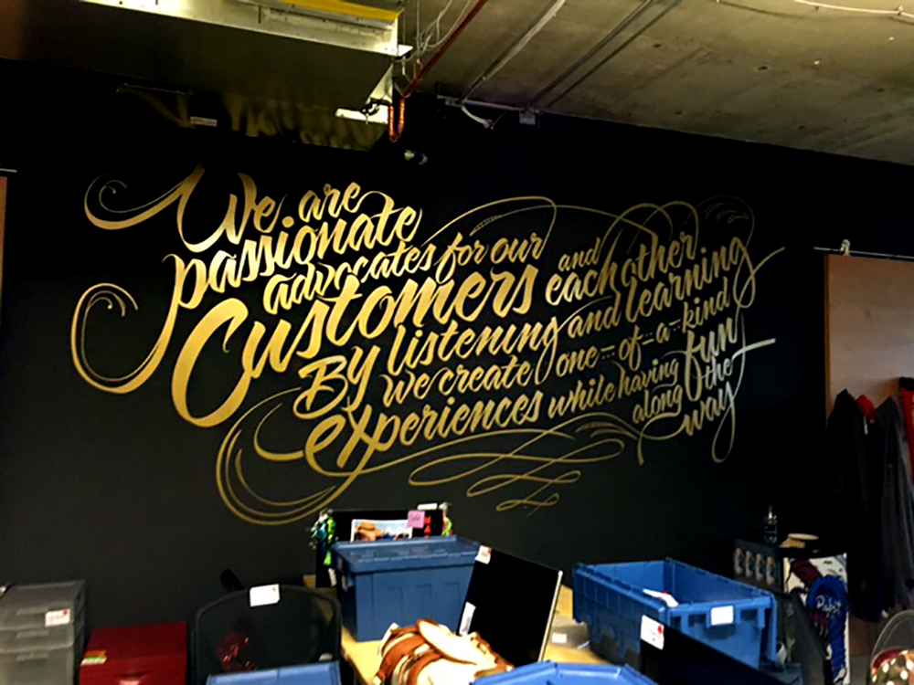 Hootsuite Wall Mural 2015