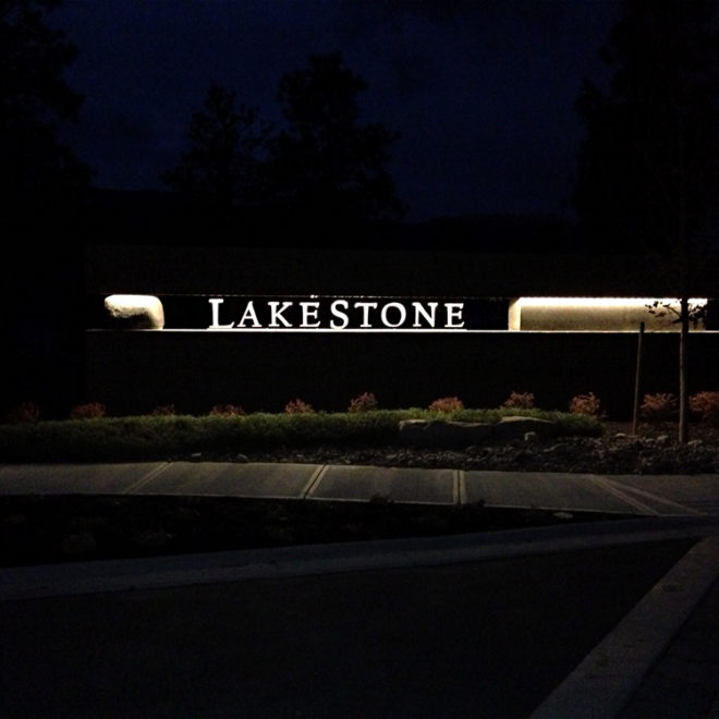 Lakestone Exterior Signage
