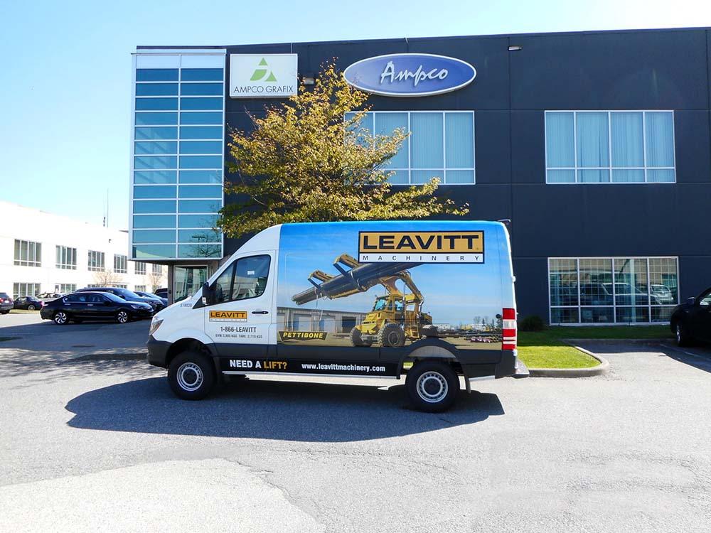 Leavitt Machinery Van Wrap