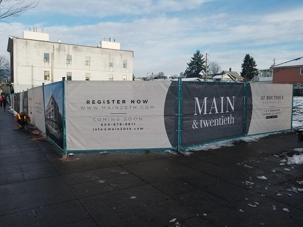 2018 Main & 20th Hoarding