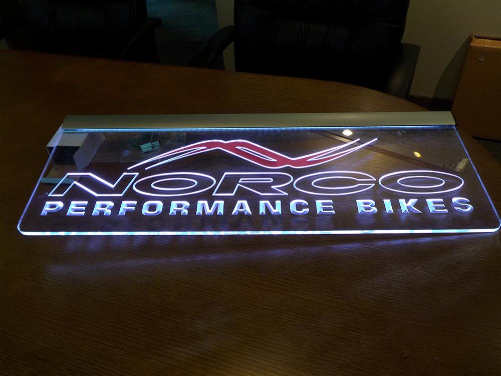Norco Bikes Lit Signage