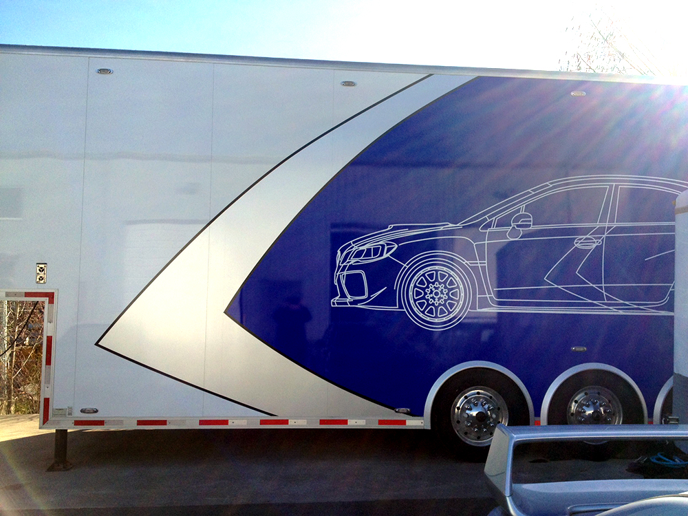 Rocket Rally Trailer Decal 2015