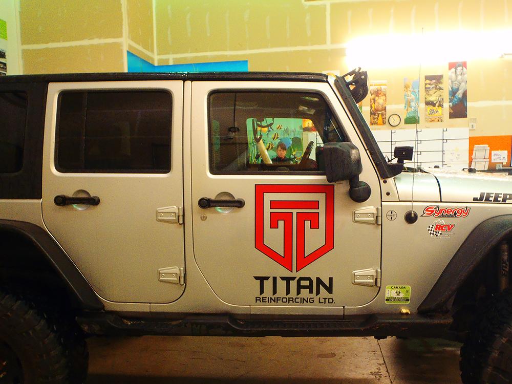Titan Jeep Decals 2016