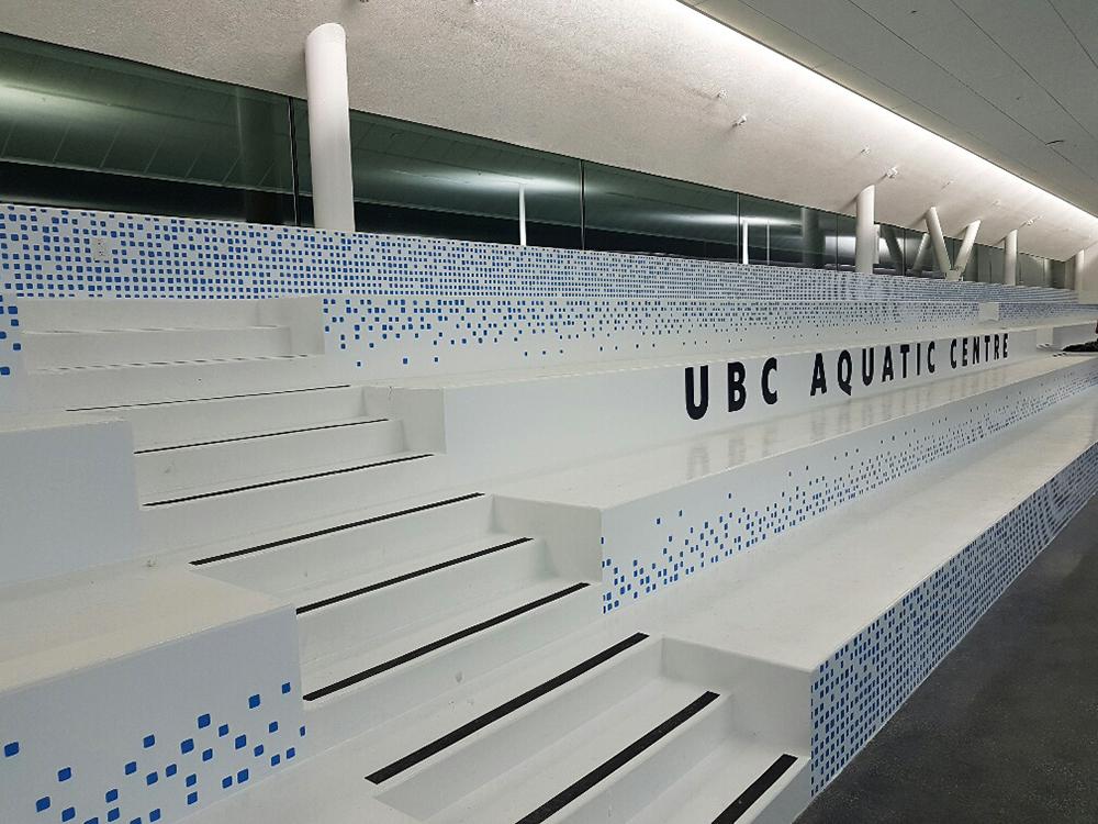 2017 UBC Aquatic Centre Stair Floor Graphics