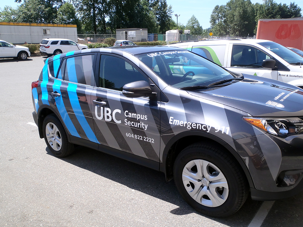 UBC Campus Security Vehicle Wrap 2015