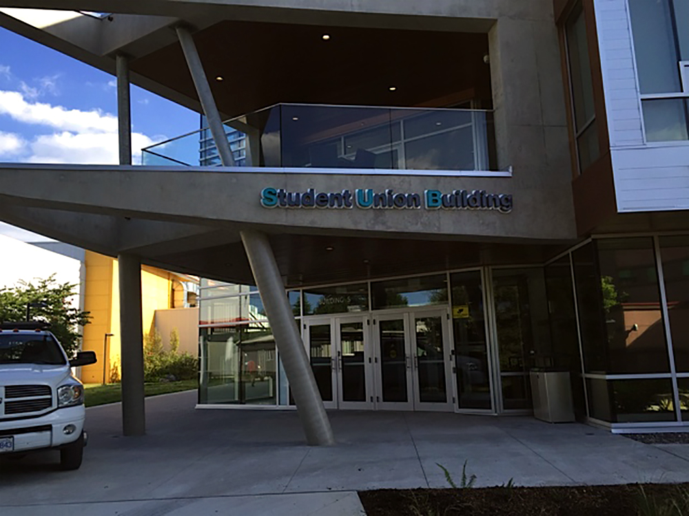 Student Union Building Front Signage 2015