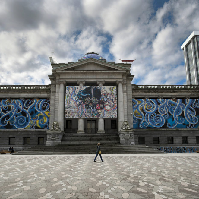Vancouver Art Gallery Murakami Exhibition Exterior Graphics 2018