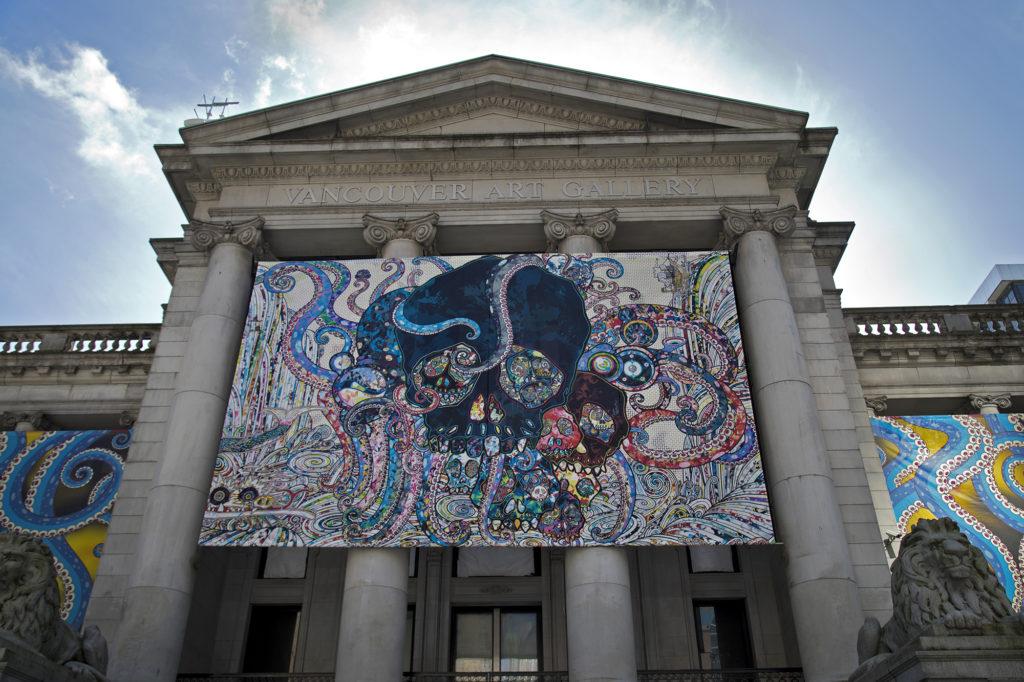 Vancouver Art Gallery Murakami Exhibition Exterior Graphics 2018