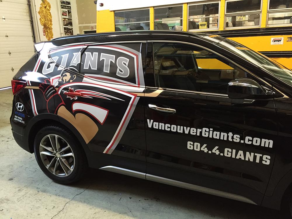 Vancouver Giants Santa Fe Vehicle Wrap 2016